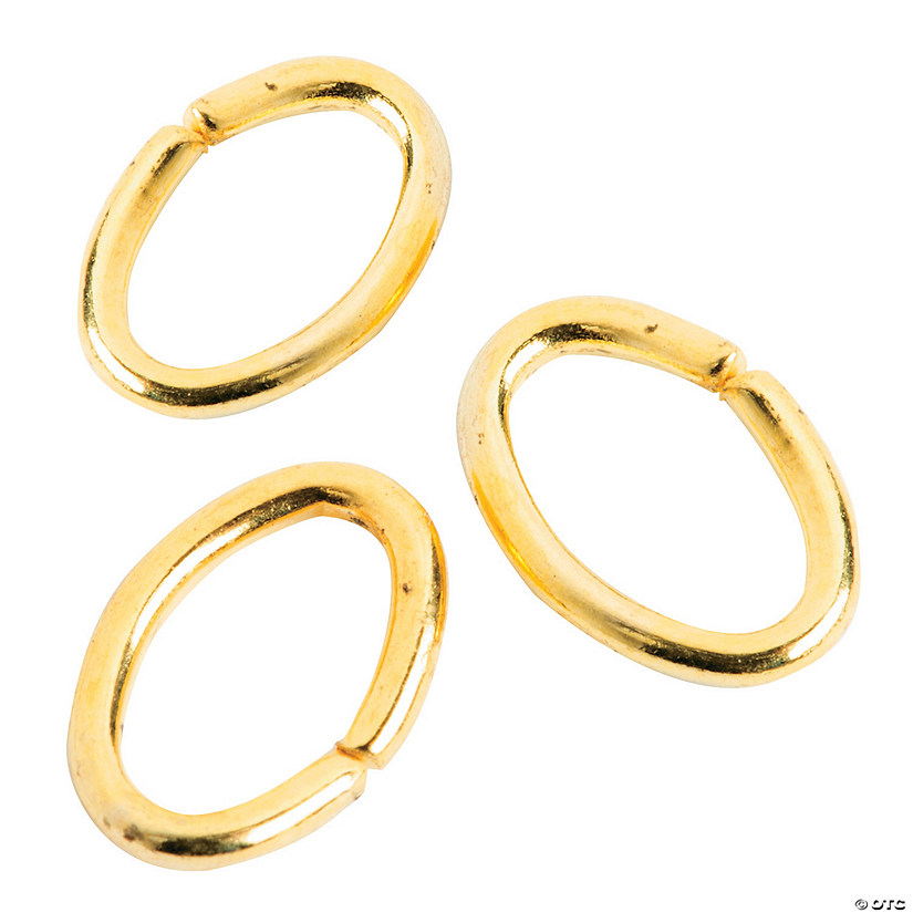 Goldtone Oval Jump Rings