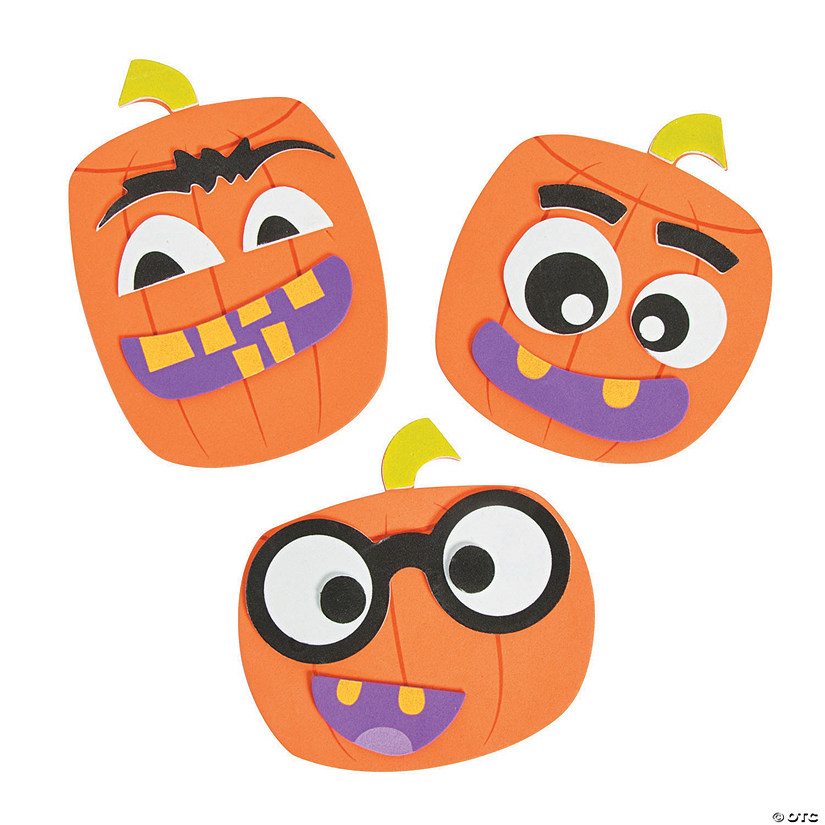 Goofy Face Pumpkin Magnet Craft Kit