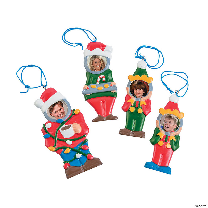 Goofy Family Photo Frame Ornaments