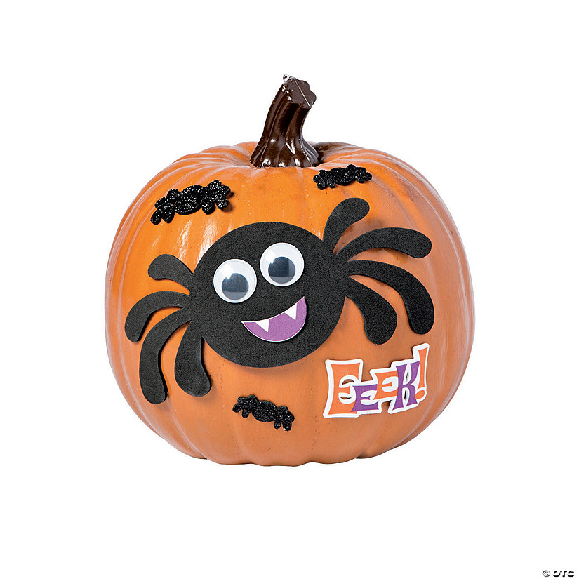 Goofy Spider Pumpkin Decorating Craft Kit