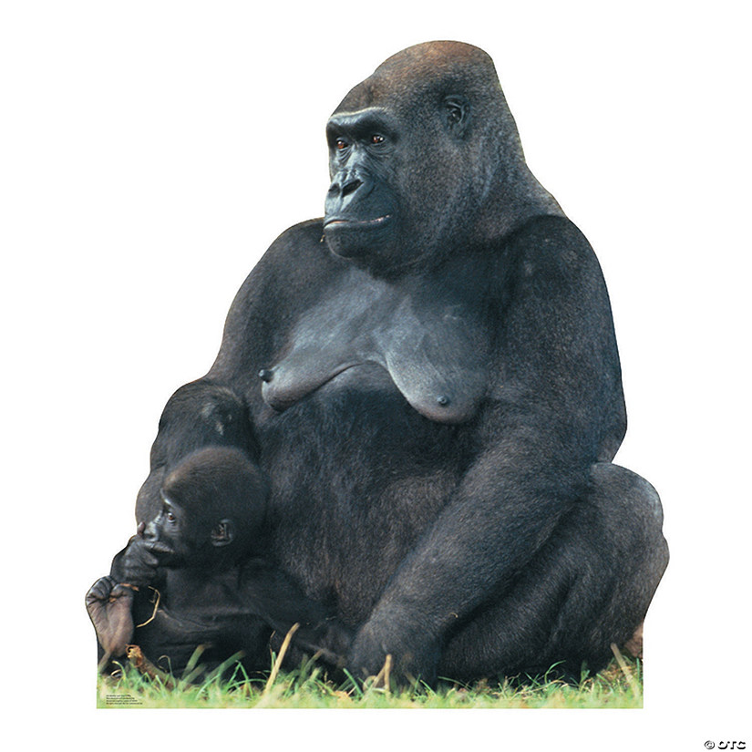 Gorilla Mom & Child Cardboard Stand-Up