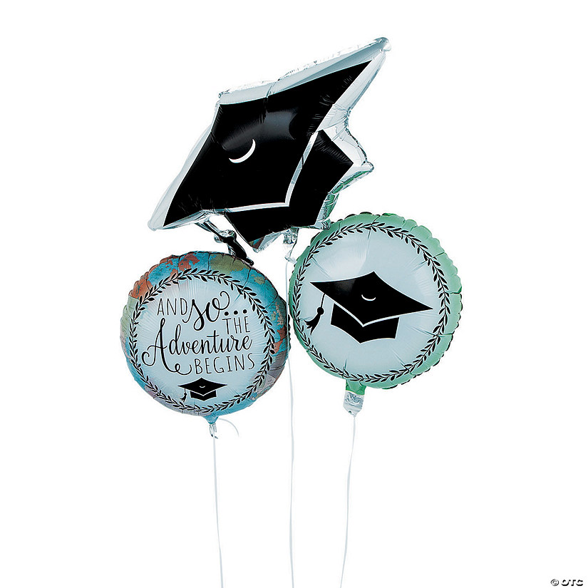 Grad Adventure Mylar Balloon Set