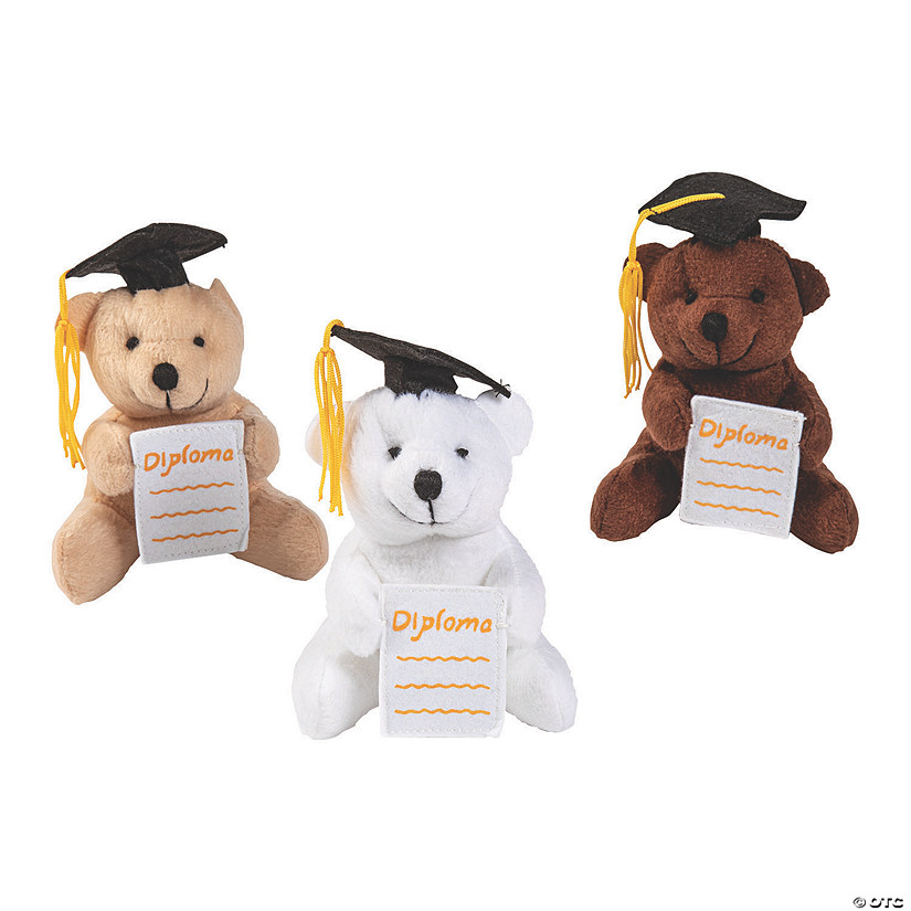 Graduation Stuffed Bears with Diploma Pocket