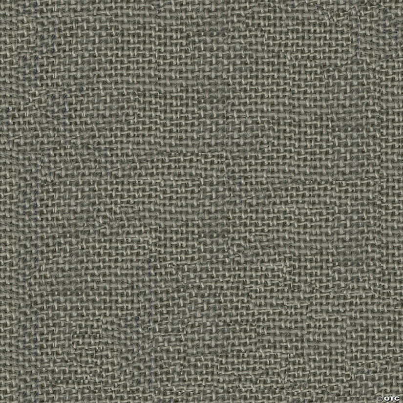 "Greatex Fabric Burlap Fabric 48"" Wide 3yd Cut-Grey"