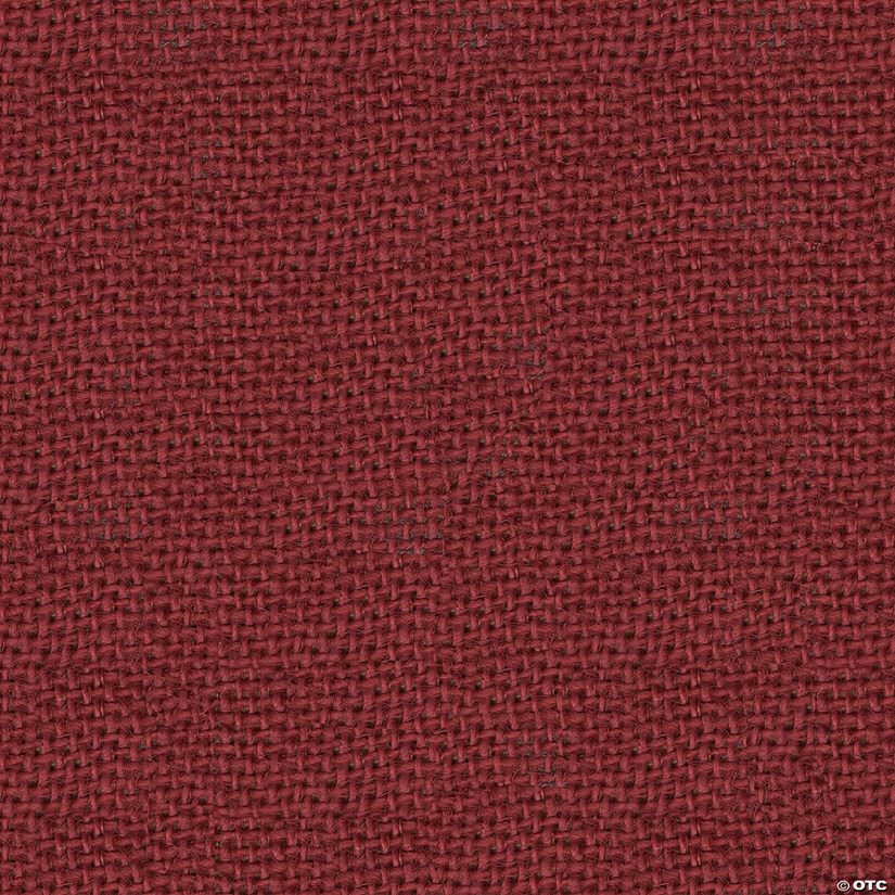 "Greatex Fabric Burlap Fabric 48"" Wide 5yd ROT-Red"