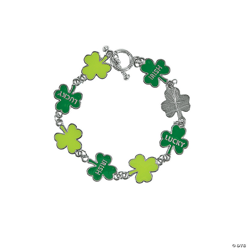 Green Shamrock Bracelet Craft Kit