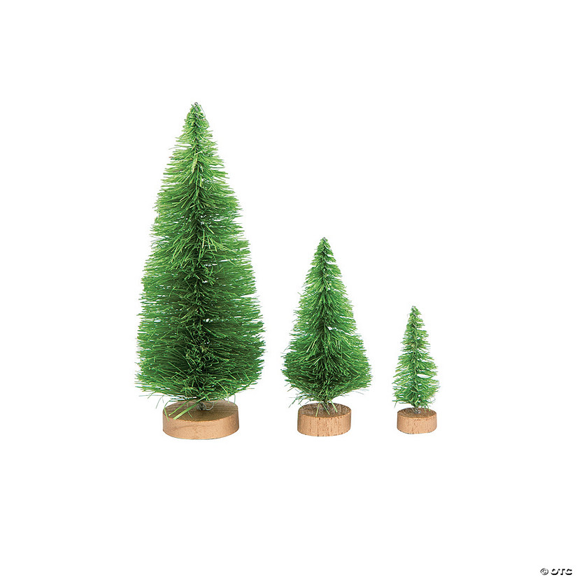 Green Sisal Trees Assortment