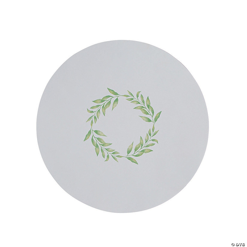 Greenery Round Paper Placemats