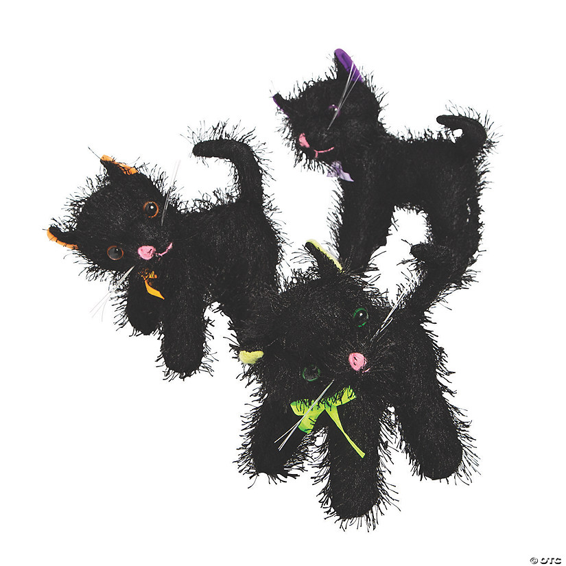 Halloween Black Stuffed Cats