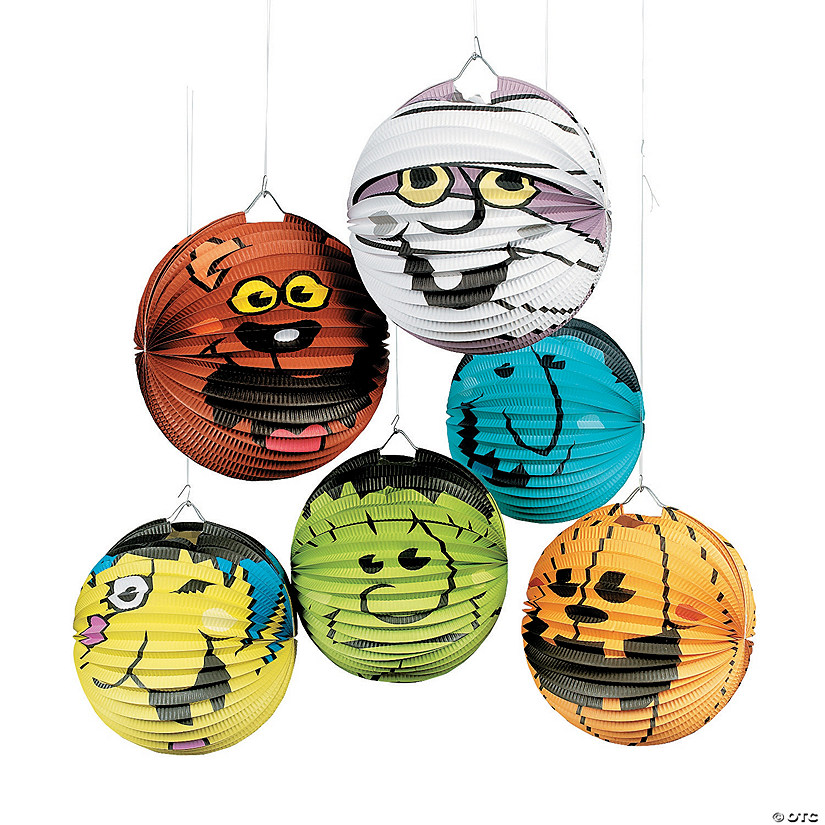 Halloween Boo Bunch Hanging Paper Lanterns