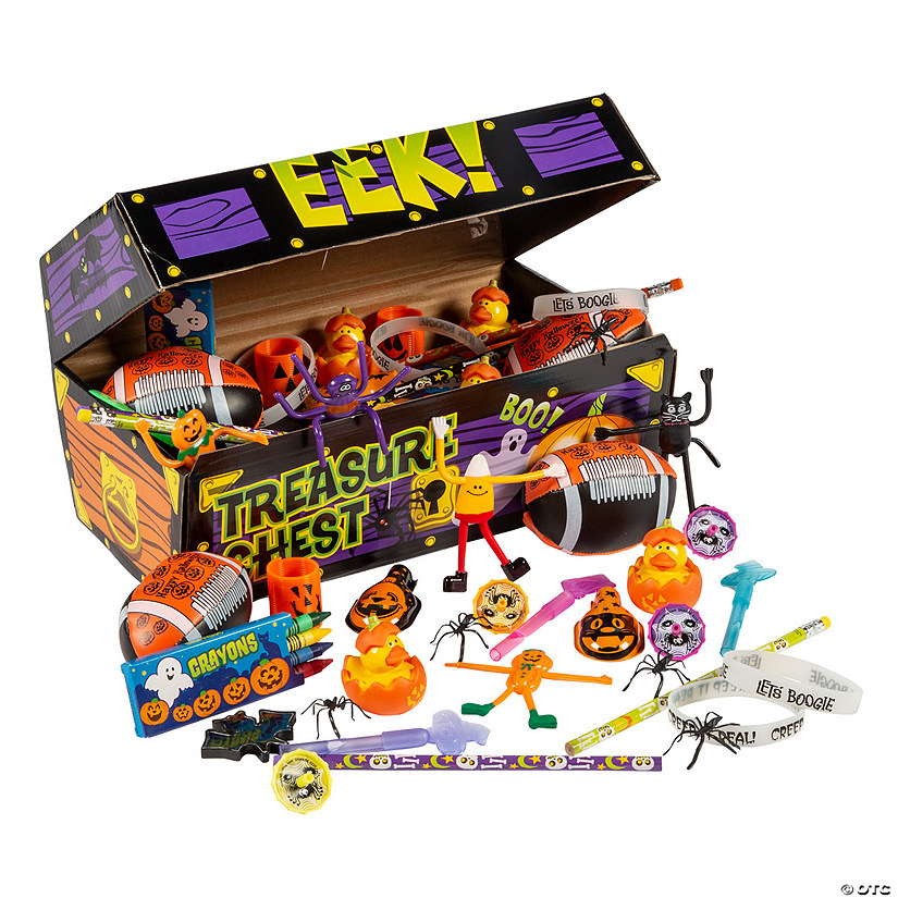 Toys And Treasures : Halloween treasure chest toy assortment