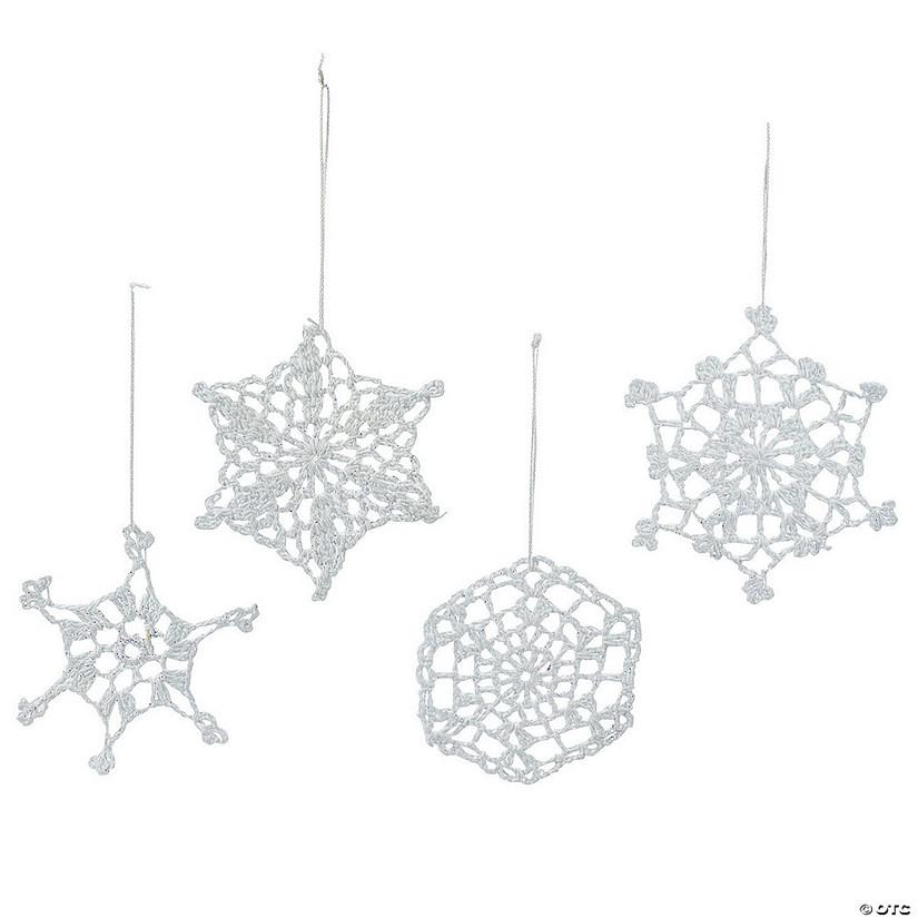 Religious Christmas Ornament Assortment: Hand-Crocheted Snowflake Christmas Ornament Assortment