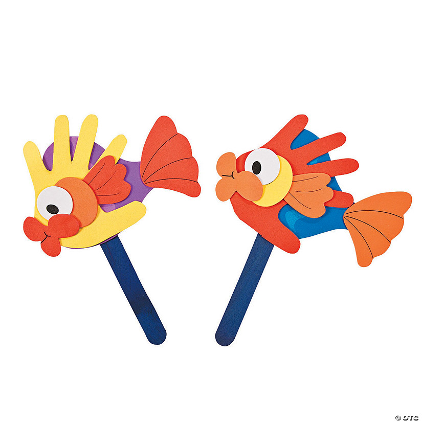Handprint Fish Puppet Craft Kit