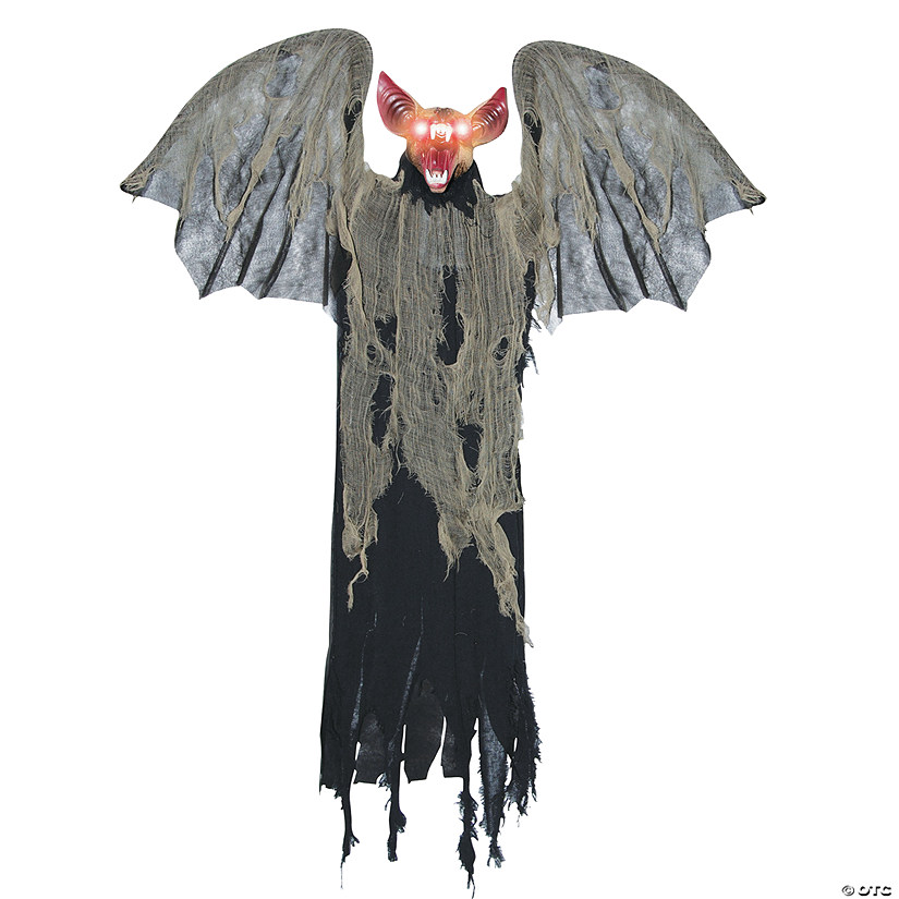 Hanging Bat with Wings Halloween Décor