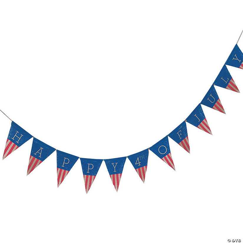Happy 4th of July Burlap Garland