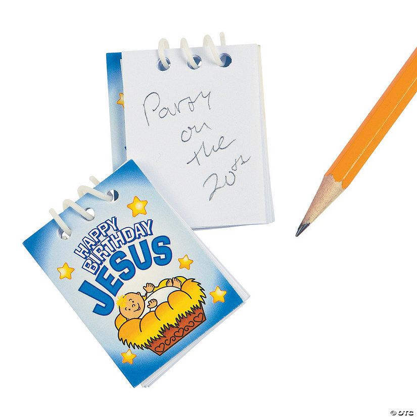 Happy Birthday Jesus Mini Spiral Notepads