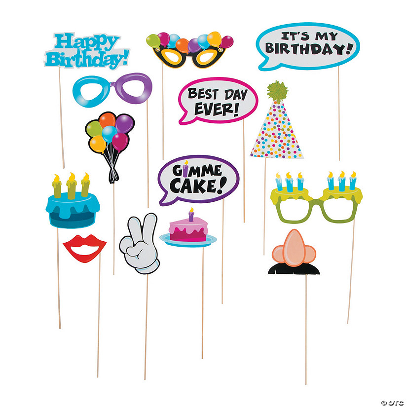 Happy Birthday Photo Stick Props