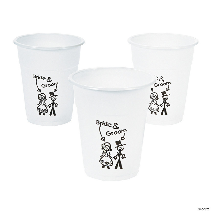 Happy Couple Plastic Cups