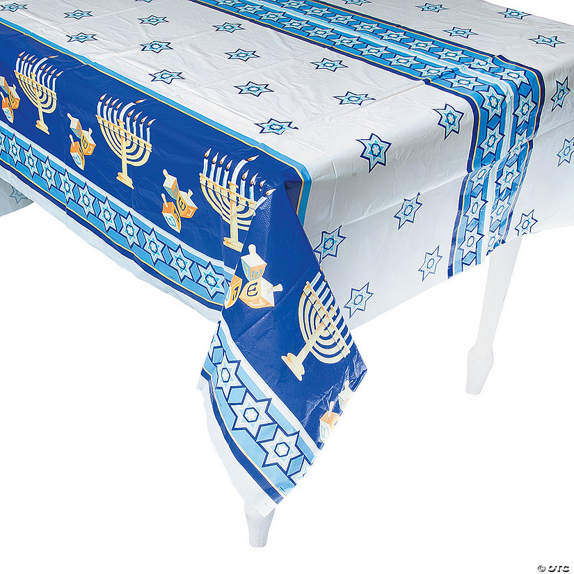 Happy Hanukkah Plastic Tablecloth
