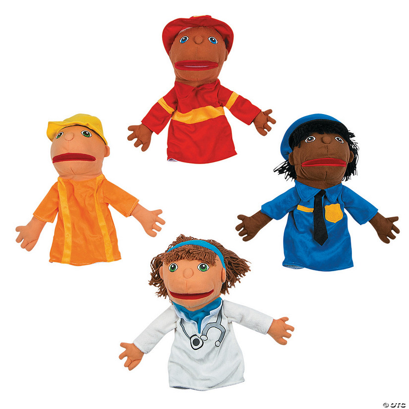 Happy Kids Plush Career Hand Puppets Set 1