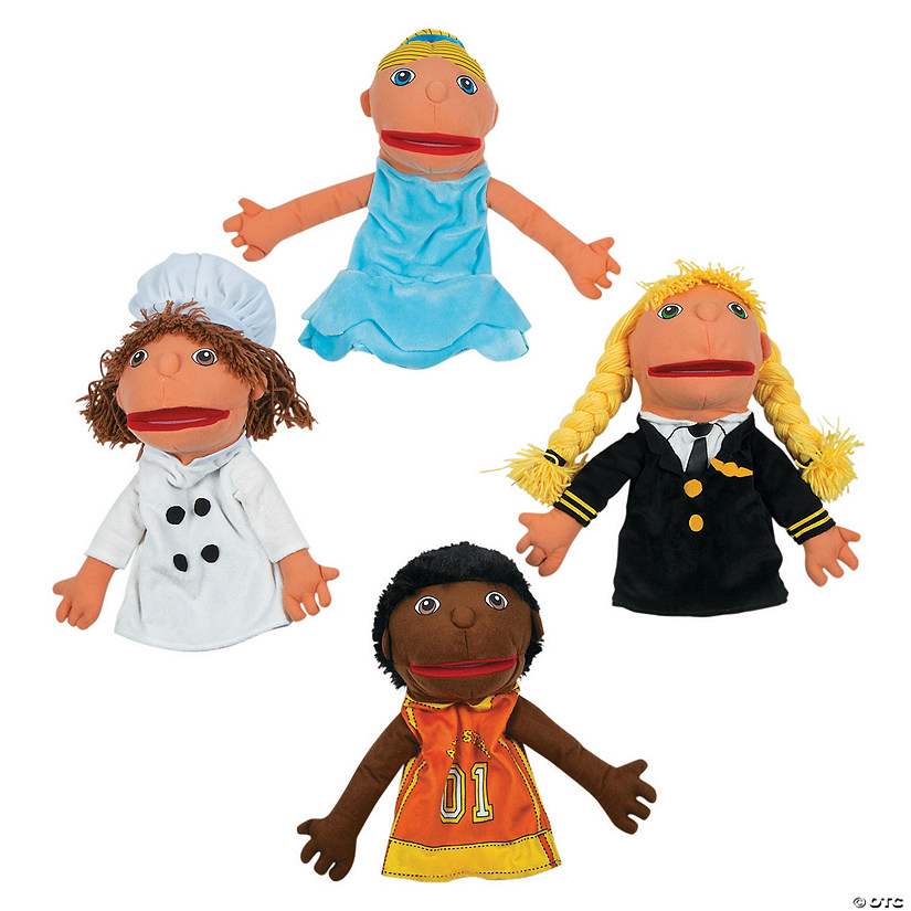Happy Kids Plush Career Hand Puppets Set 2