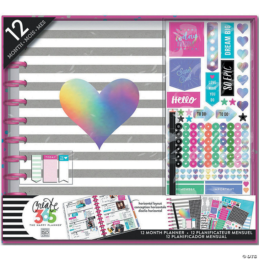 Happy Planner 12-Month Big Planner Box Kit-Rainbow Foil