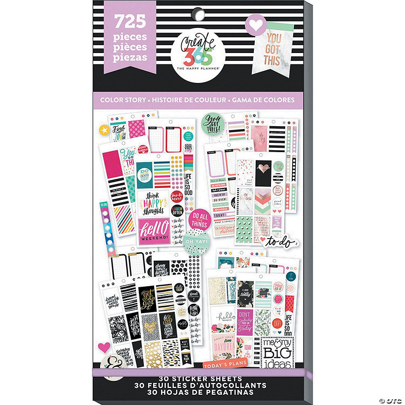 Happy Planner Sticker Value Pack-Color Story - Classic, 725/Pkg