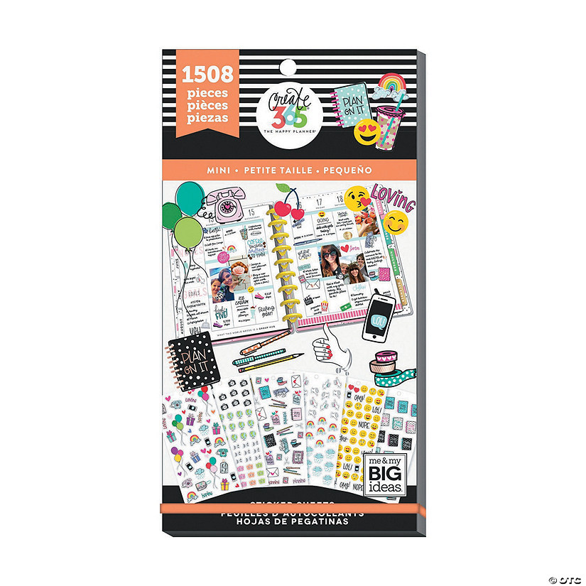Happy Planner Sticker Value Pack-Mini Icons, 1508/Pkg