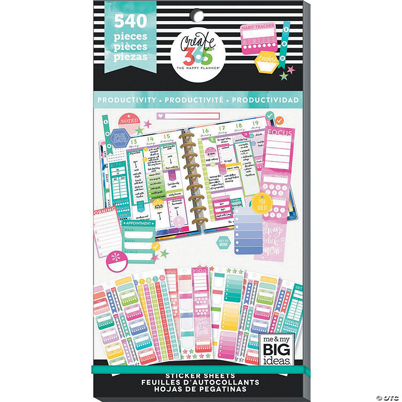 Happy Planner Sticker Value Pack-Productivity Fill-In, 540/Pkg