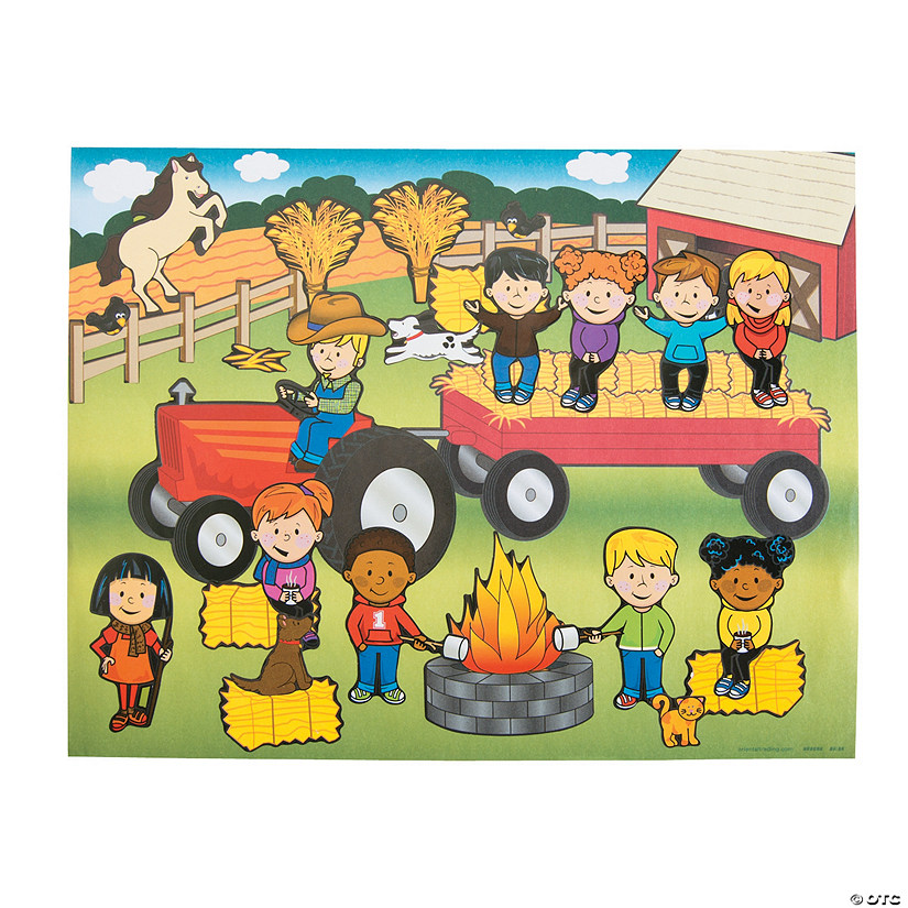 Hayrack Ride Sticker Scenes