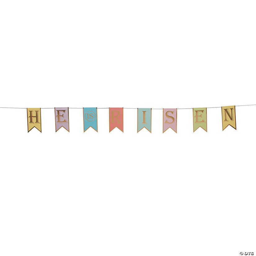 He Is Risen Pennant Garland