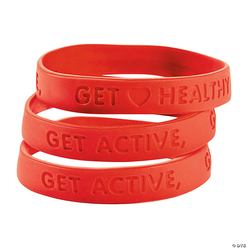 Heart Health Rubber Bracelets