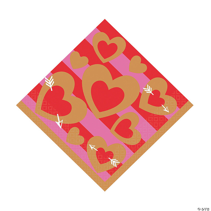 Heart of Gold Luncheon Napkins