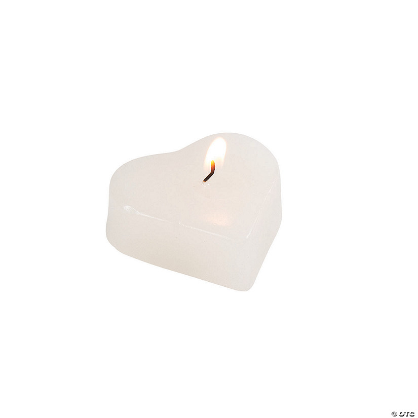 Heart-Shaped Floating Candles