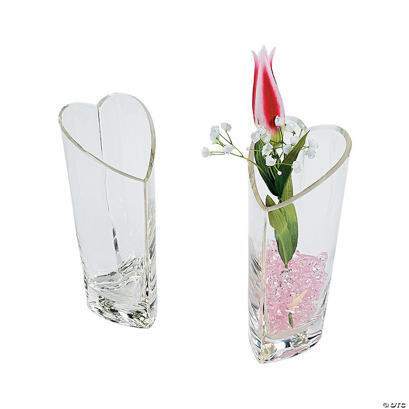 Heart-Shaped Glass Vase