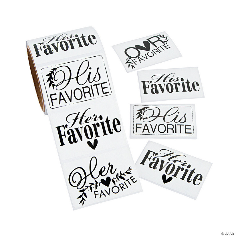 His Hers & Ours Wedding Stickers