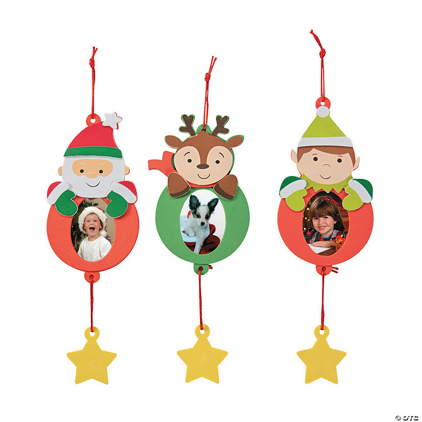 Holiday Character Picture Frame Ornament Craft Kit