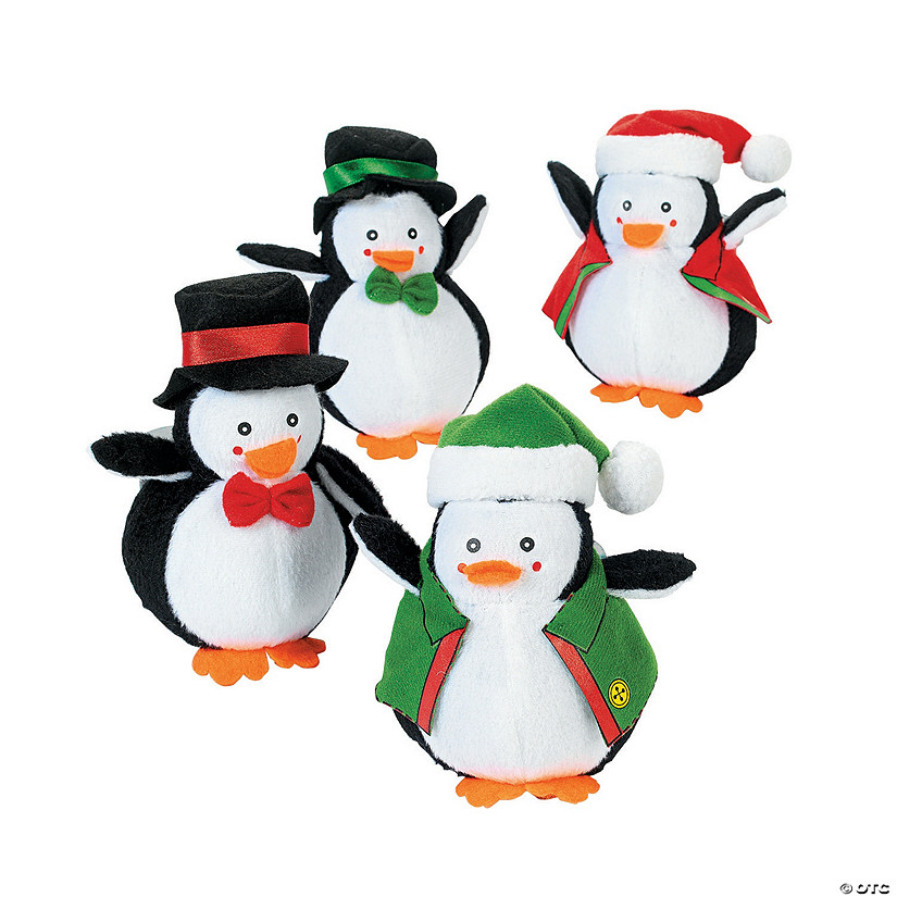 Holiday Dressed Stuffed Penguins