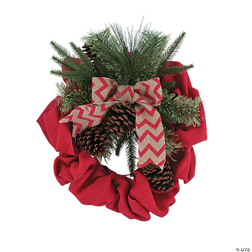 Holiday Handicraft Burlap Wreath
