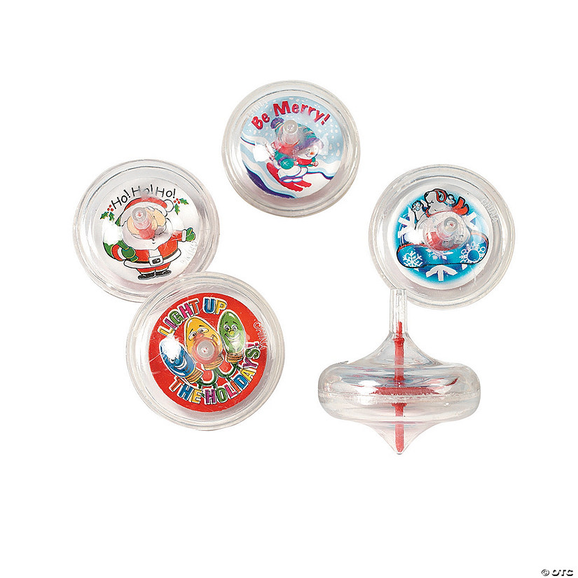 Holiday Swirl Spin Tops