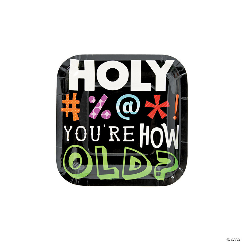 Holy Bleep Birthday Paper Dessert Plates