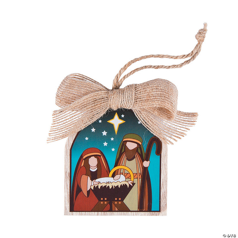 Holy Family with Bow Ornaments