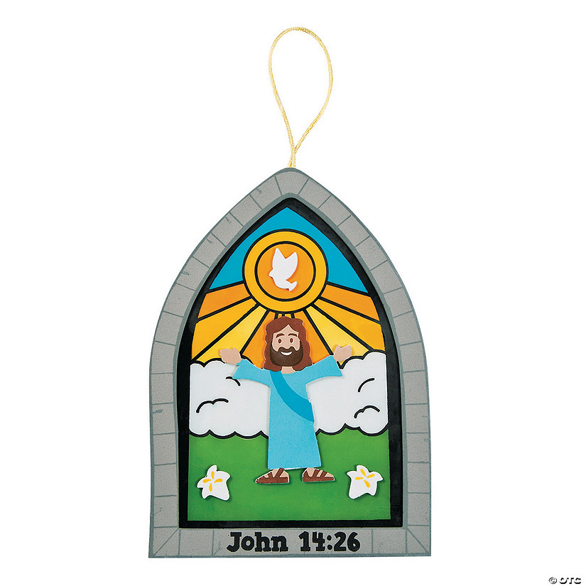 Holy Spirit Stained Glass Window Craft Kit