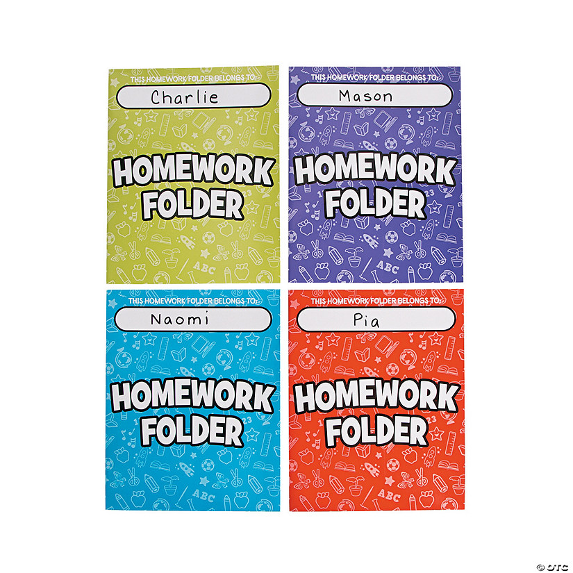 Homework Pocket Folders
