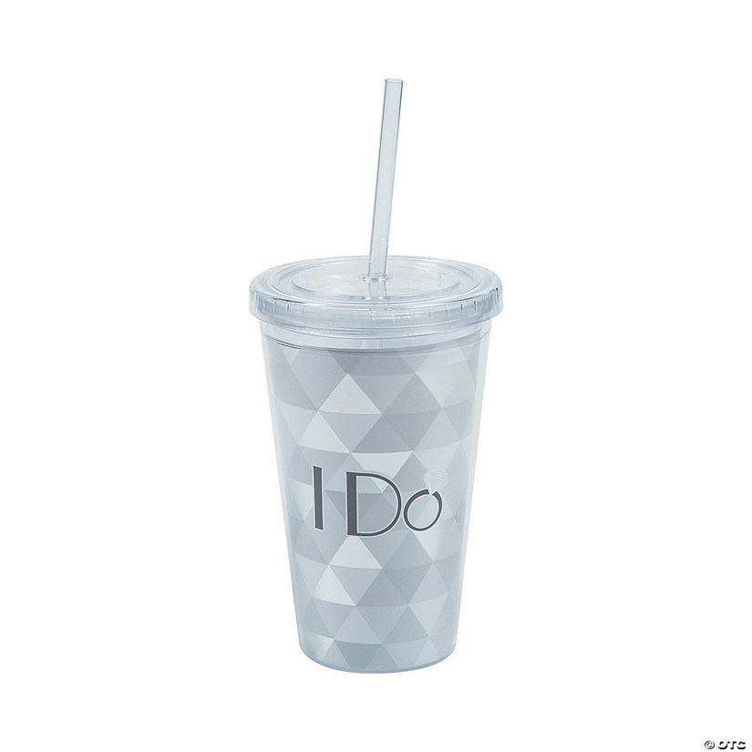 I Do Plastic Tumbler with Straw