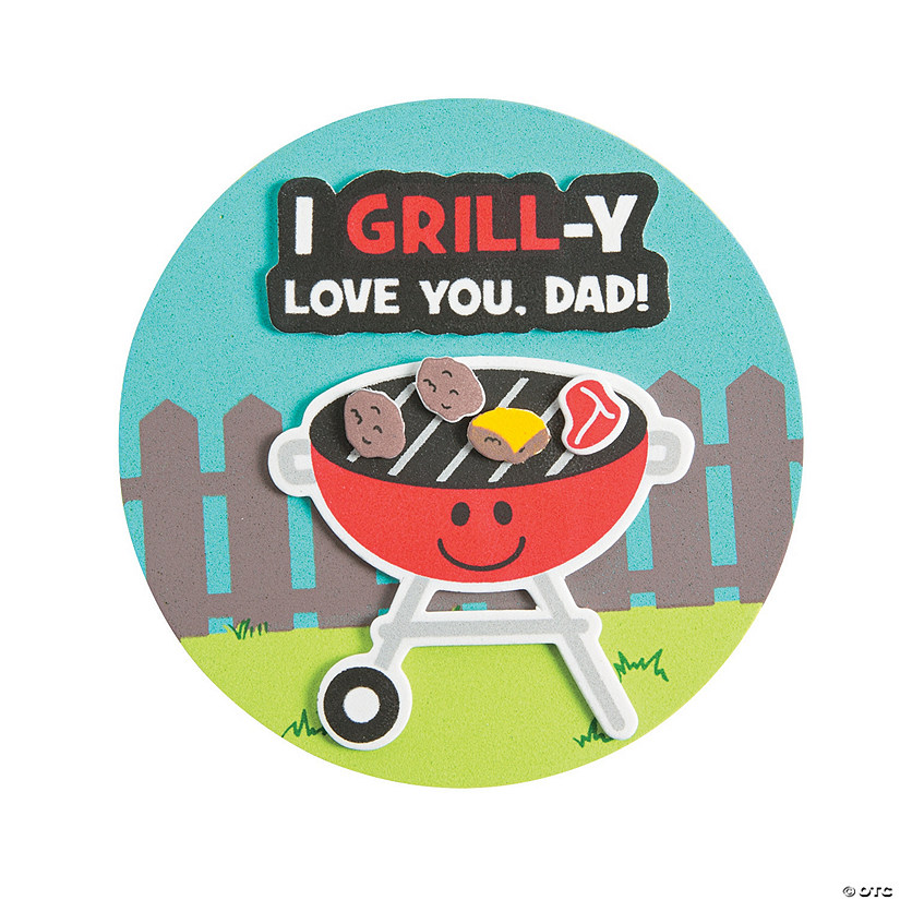 I Grill-y Love You Dad Magnet Craft Kit