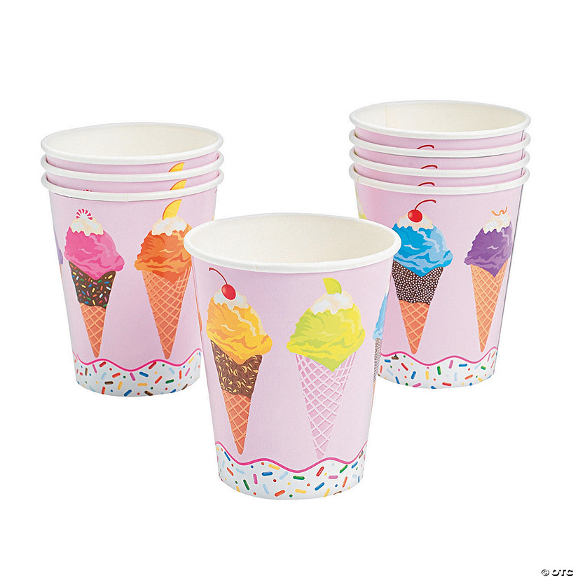 I Scream for Ice Cream Paper Cups