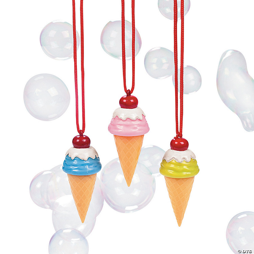 Ice Cream Cone Bubble Bottle Necklaces