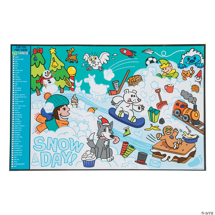 Image Hunt Christmas Snow Day Activity Sheets