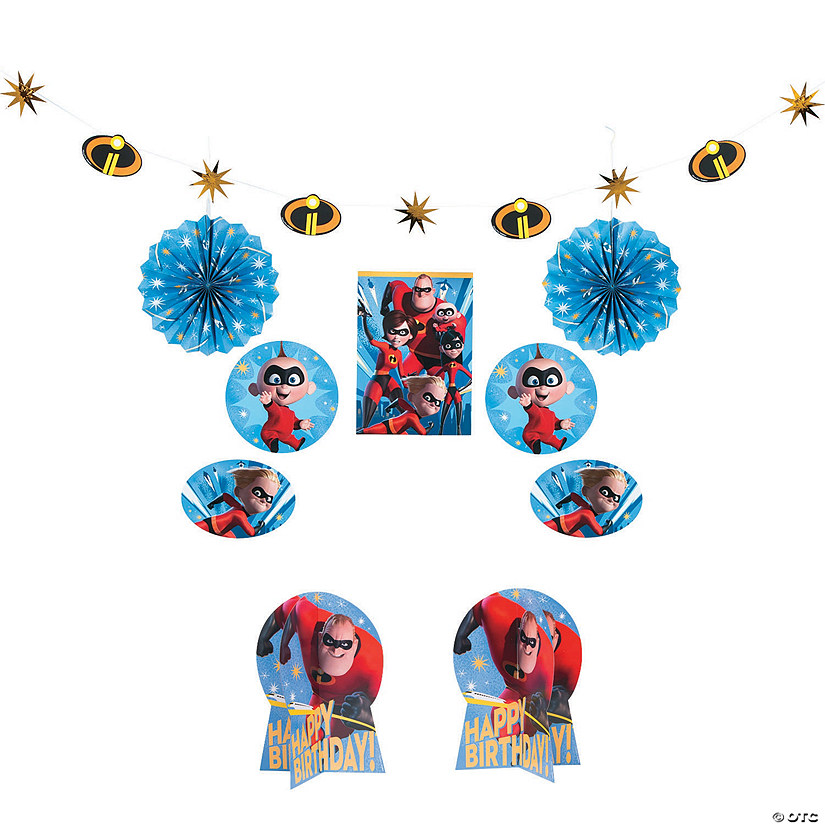 Incredibles 2™ Birthday Room Décor Kit